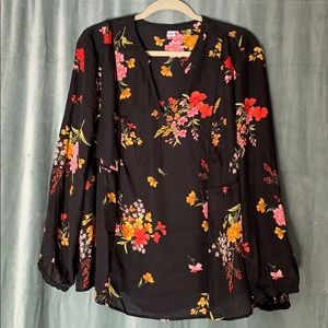 Old navy floral boho XL blouse